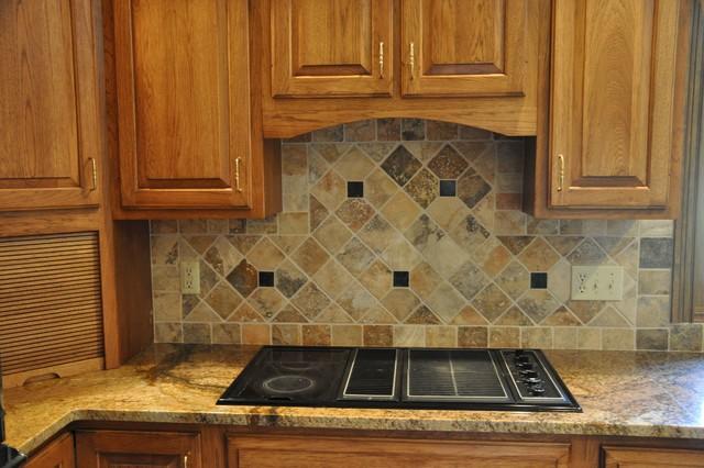 Granite Countertops and Tile Backsplash Ideas - Eclectic ... on Kitchen Backsplash Backsplash Ideas For Granite Countertops  id=59395
