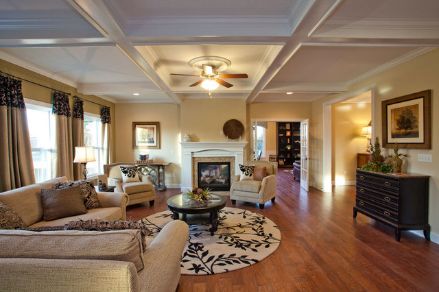 Large Open Living Room Traditional Living Room