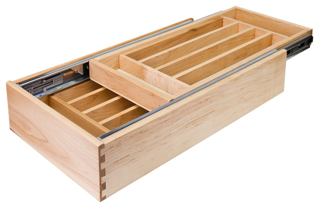 Cutlery Drawer Inch Base Cabinet Traditional Kitchen