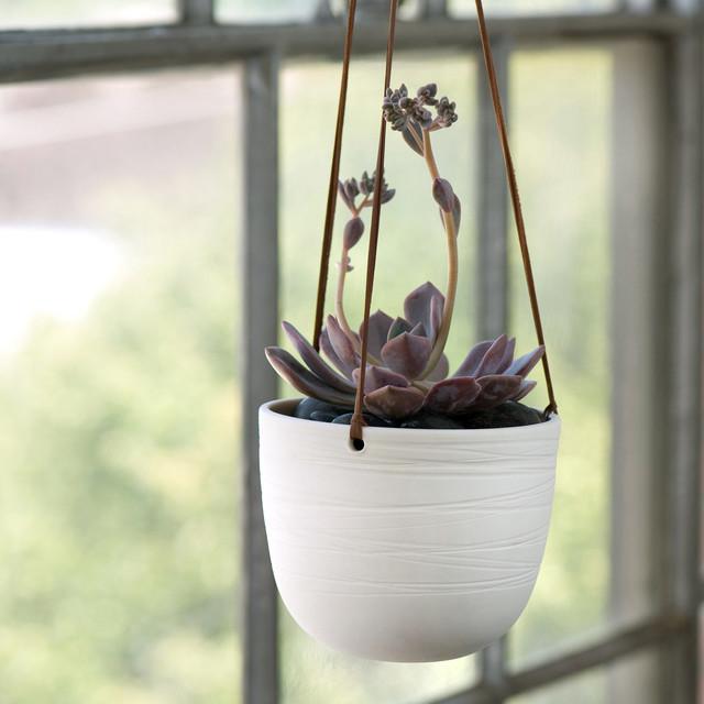Scribble Hanging Planter - Traditional - Indoor Pots And ... on Hanging Plant Pots Indoor  id=41106