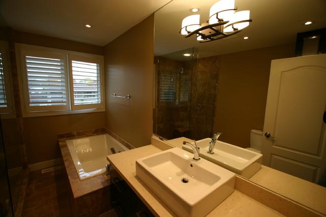 Bathroom 4 Piece Small Area - Contemporary - Bathroom ... on Small Area Bathroom Ideas  id=52229