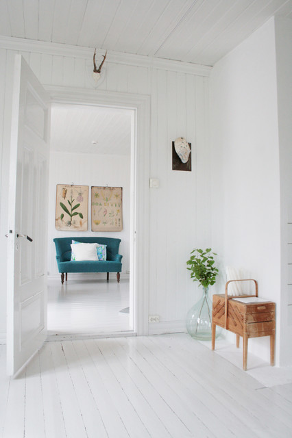 My white Scandinavian home. Splash of colors. Old & new. Always in change. contemporary living room