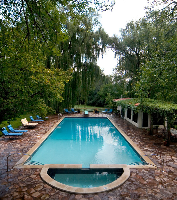 Glenview Mediteranian Pool and Spa traditional pool