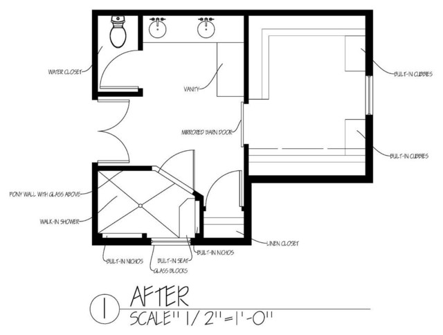 Hillshire Master Bathroom Space Planning