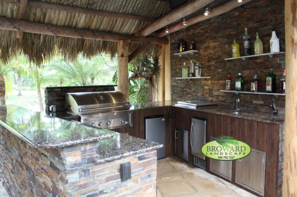 tropical patio outdoor kitchens Outdoor Kitchen - Tropical - Patio - miami - by Broward