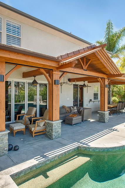 Luxury outdoor patio cover - Modern - los angeles - by ... on Luxury Backyard Patios id=47715