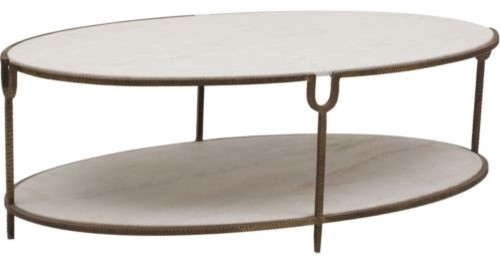 Iron And Stone Oval Coffee Table Contemporary Coffee Tables By High Fashion Home