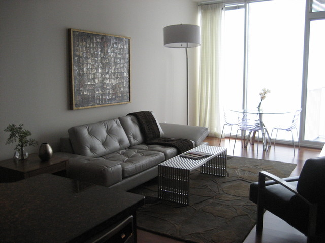 High Rise Condo In Downtown Raleigh Contemporary Living Room Raleigh