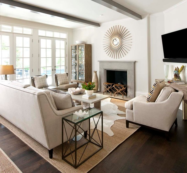 traditional family room by Ellen Grasso & Sons, LLC