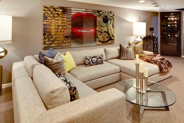 modern basement by Dwelling Designs