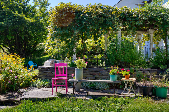 eclectic patio by Rikki Snyder