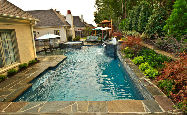 Collierville Modern Geometric Pool, Spa, & Outdoor Living ... on Outdoor Living Spa  id=87082