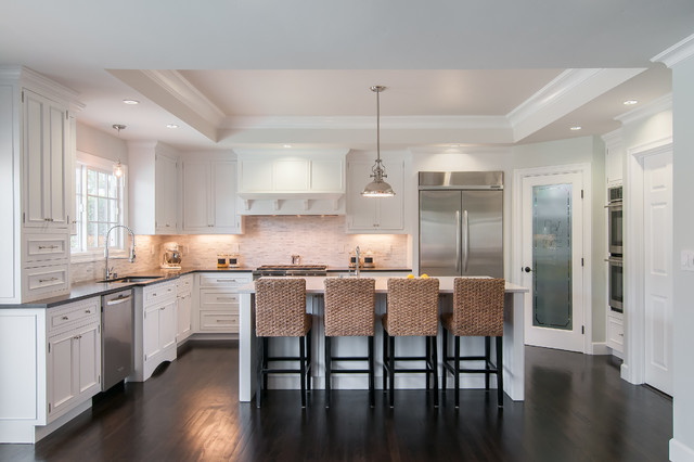 Painted White Inset Transitional Kitchen San Francisco By Lazy Suzan Designs
