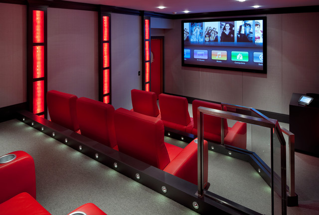 Laurel Woods Home Theater modern media room