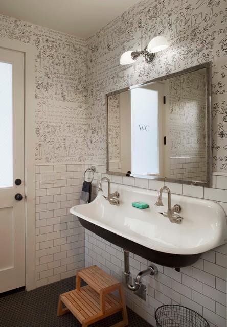 Modern farmhouse - Farmhouse - Bathroom - san francisco ... on Bathroom Ideas Modern Farmhouse  id=21061