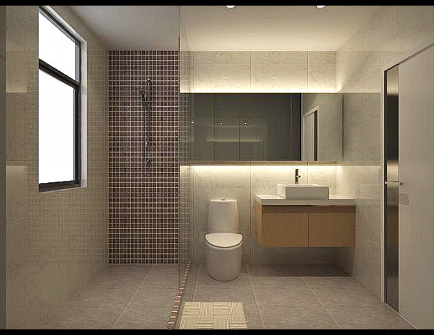 small box on Modern Small Bathroom  id=51739