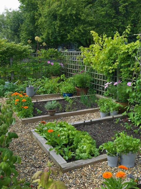 Woodcote garden - Farmhouse - Landscape - london - by ... on Farmhouse Backyard Landscaping id=86246