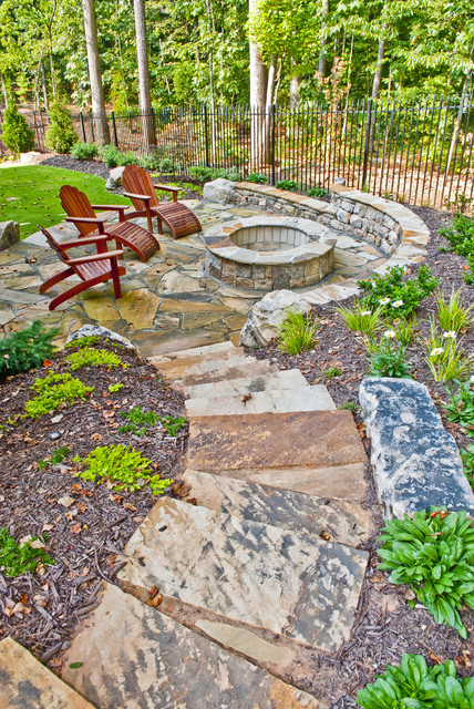 Property Mfasters - Traditional - Patio - atlanta - by ... on Patio On A Slope Ideas id=84191