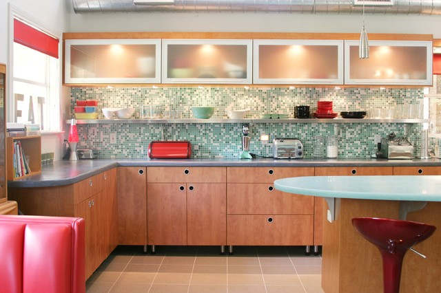 Retro Kitchen Contemporary Kitchen Dallas By Kitchen Design Concepts