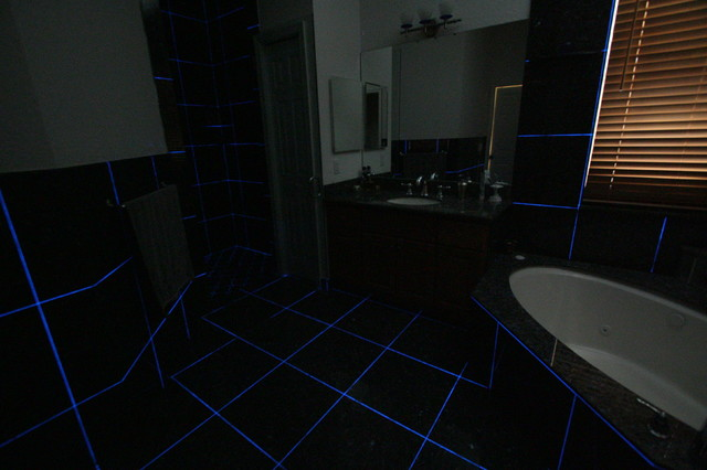 Master Bath Glow In The Dark Grout Eclectic Miami By Charles McGlaughlin