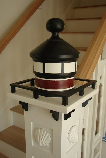 Nautical Lighthouse Newel Post Traditional Staircase