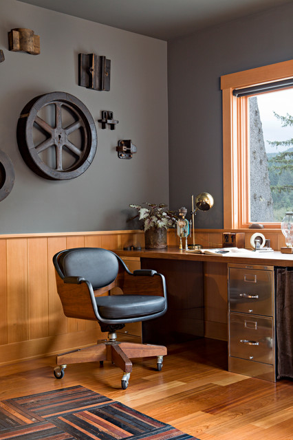 Oregon Coast Home contemporary home office