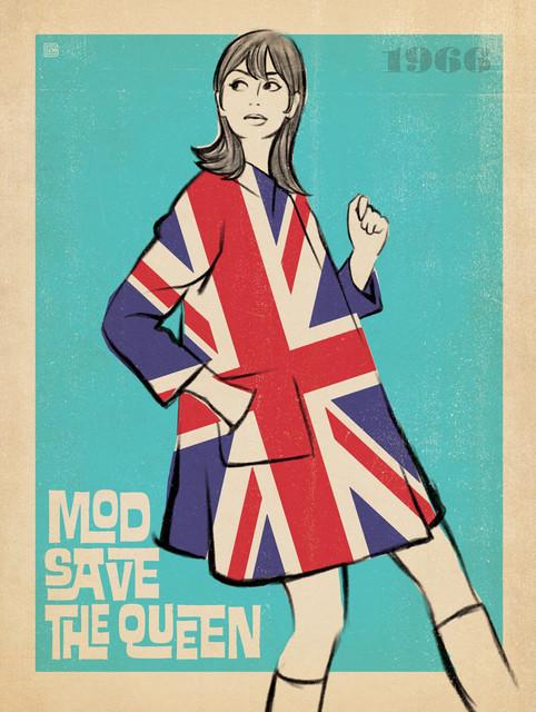 'Mod Save the Queen' Art Print modern-fine-art-prints
