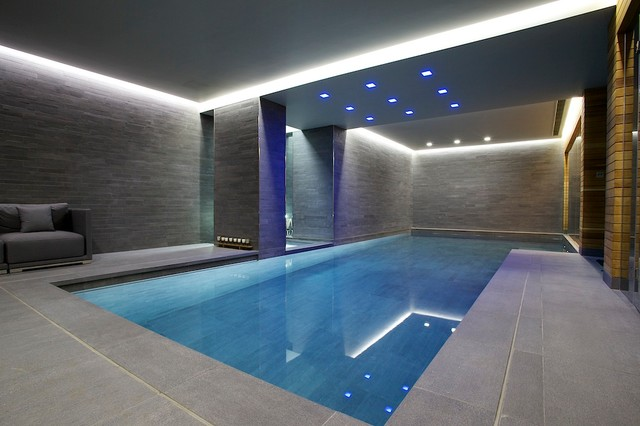 Indoor Luxury Swimming Pool, Surrey Modern-pool