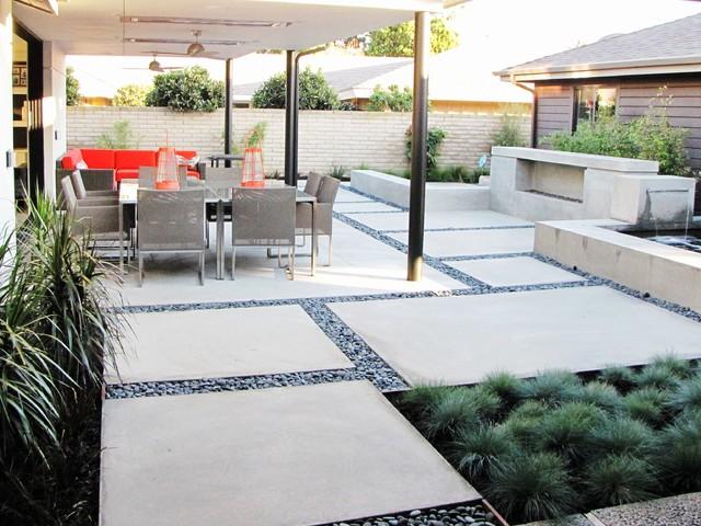 Houzz Tour: A Labor of Modern Love in Costa Mesa ... on Houzz Backyard Patios  id=70814