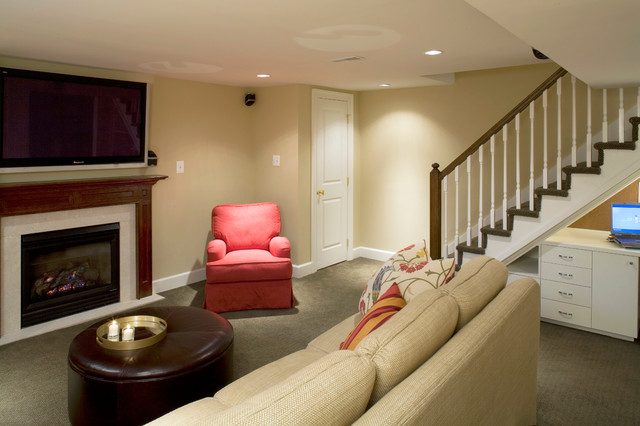 Row Home Remodel Traditional Basement Baltimore By