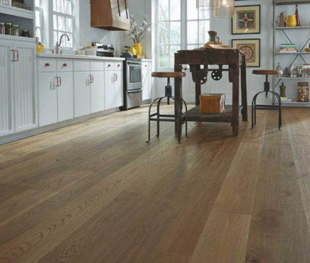 Distressed Wood Flooring In Boston Farmhouse Kitchen By Carlisle Wide Plank Floors