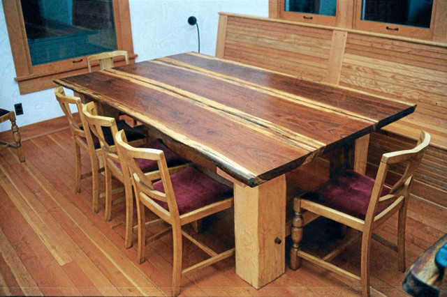 Redwood Plank Dining Table