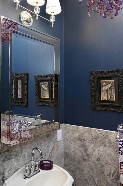 New York Powder Room eclectic powder room
