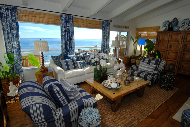 Broad Beach Road Malibu Ca Tropical Living Room Los
