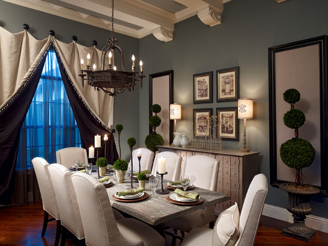 Lake Mary Rustic Style Residence - Traditional - Dining ... on Rustic Traditional Decor  id=21950