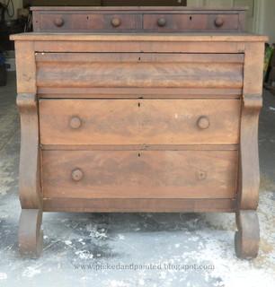 Rustic Furniture Finishes Using Chalk Paint Brush Amp Pail