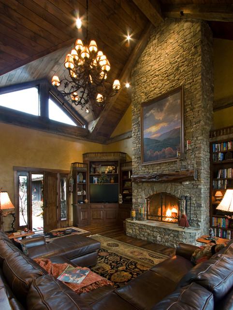 Balsam Mountain Rustic Elegance - Rustic - Living Room ... on Traditional Rustic Decor  id=53179