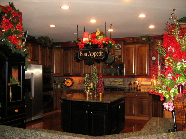 Christmas Kitchen Pot Rack