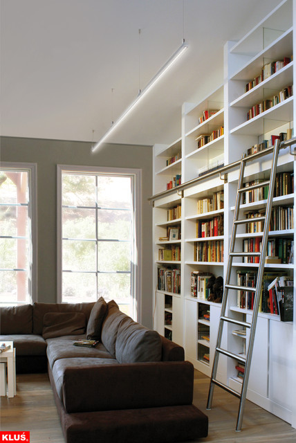 LED Library and Book Shelf Lighting - Contemporary ... on Shelf Sconces For Living Rooms Contemporary id=66036