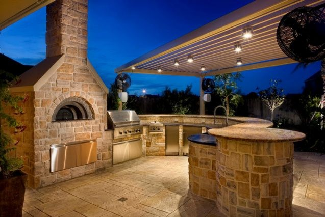 Pizza Oven_outdoor kitchen, by Renato - Traditional ... on Outdoor Patio With Pizza Oven  id=24396