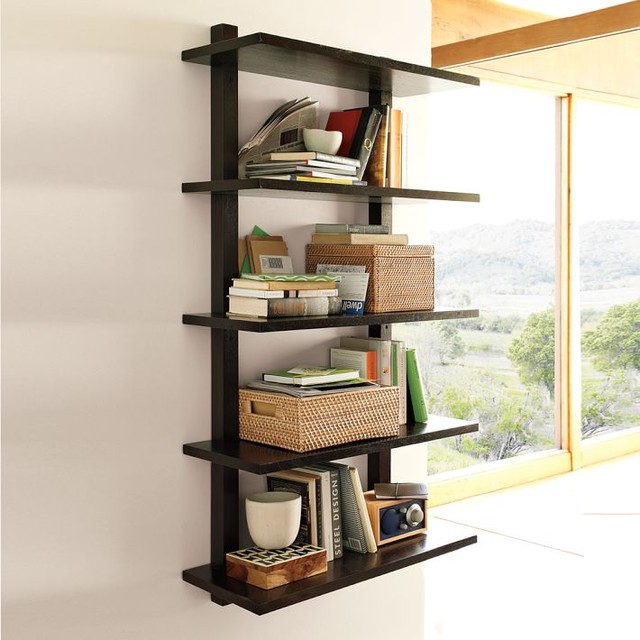 Tall Narrow Bookshelves Wood