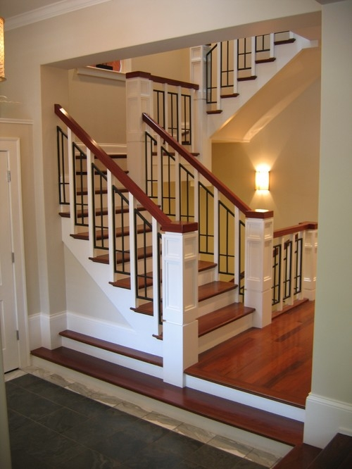 Cene Build A Shed Floor 85   Craftsman Style Stair Railing
