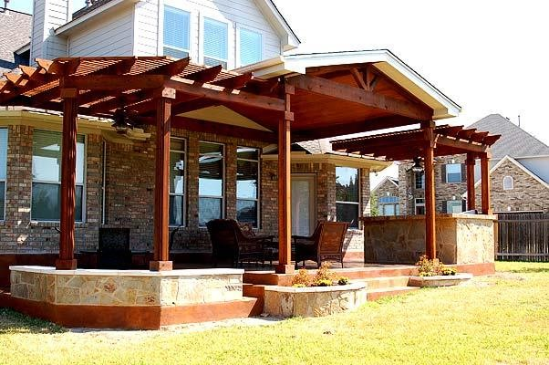 Extended covered patio - Traditional - Patio - austin on Extended Covered Patio Ideas id=36254