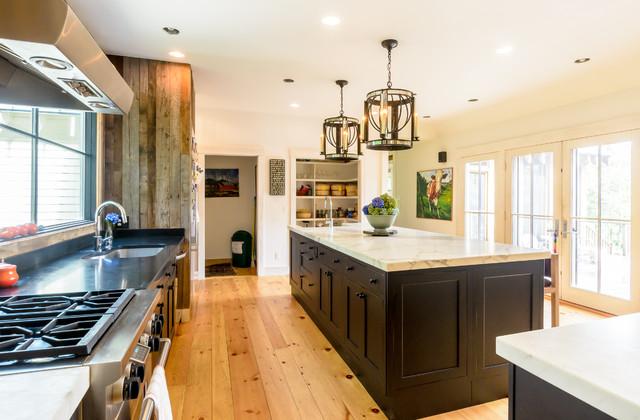 Rustic Modern Farmhouse Kitchen - Farmhouse - Kitchen ... on Rustic Farmhouse Kitchen  id=77507