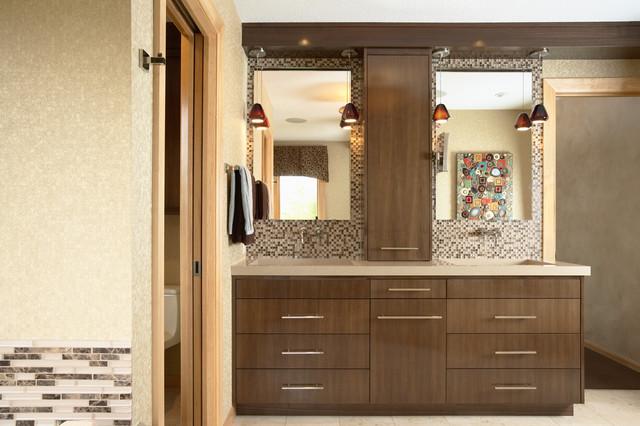 Sleek And Modern Master Bath Modern Bathroom