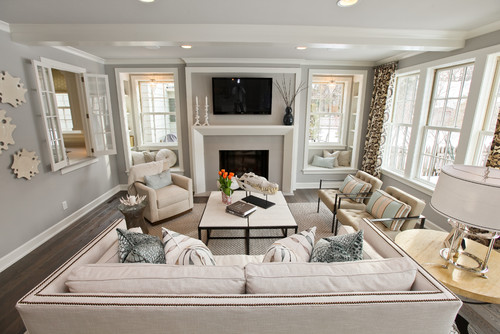 Stonington Gray, Benjamin Moore. Contemporary Living Room ...