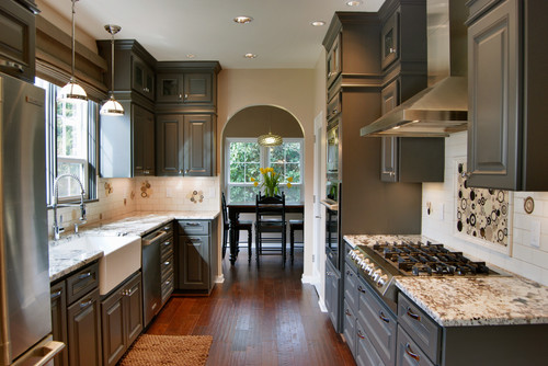Dark Granite kitchen cabinets