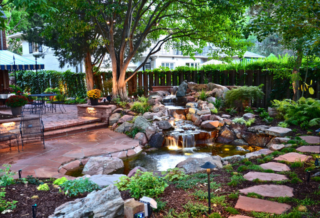 Park Hill Backyard After - Traditional - Landscape - other ... on Backyard Hill Landscaping Ideas  id=32890