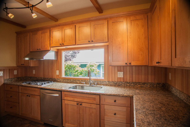 1L Natural Maple Shaker Kitchen Cabinets - Contemporary ... on Maple Cabinets Kitchen  id=66538