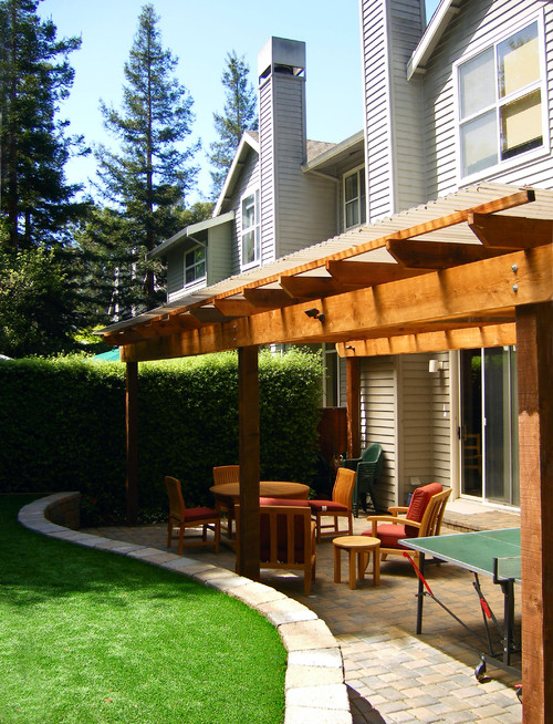 we have a small man door leading to the backyard and deck ... on Backdoor Patio Ideas id=81899
